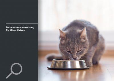 Futterzusammensetzung für ältere Katzen