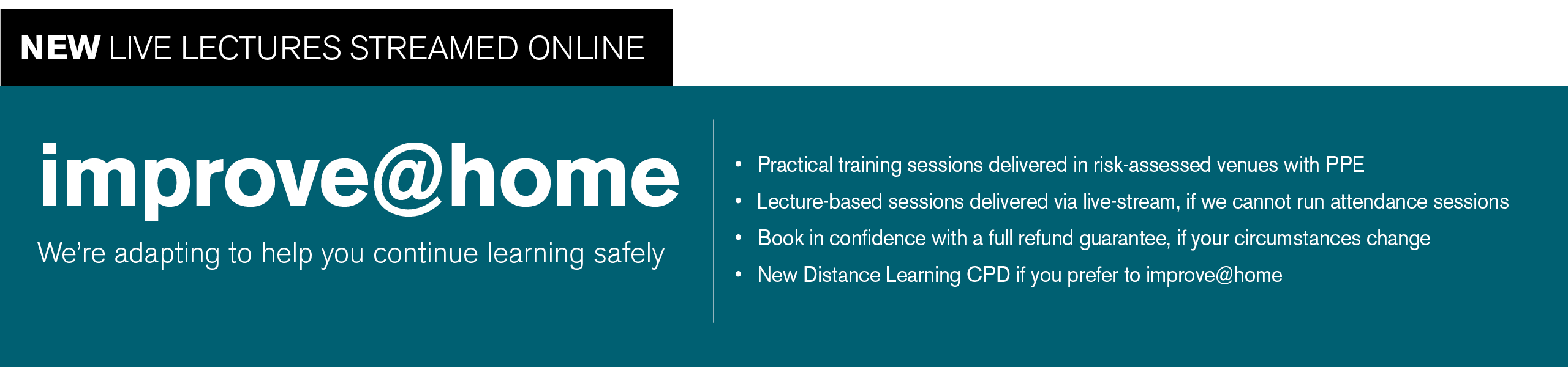 improve@home - adapting to help you continue learning safely