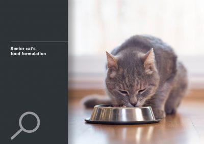 Senior cat's food formulation